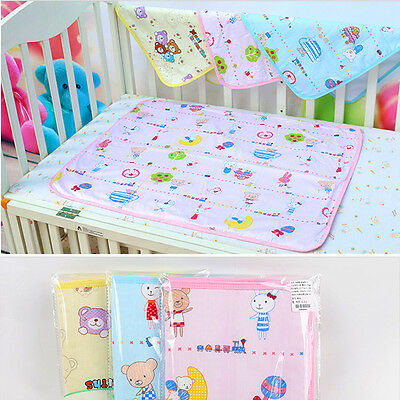 Cotton Washable Baby Infant Urine Mat Nappy Waterproof Changing Diaper Bed Pad