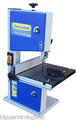 "Charnwood W711 8"" Woodworking Bench Top Bandsaw With Cast Iron Table"