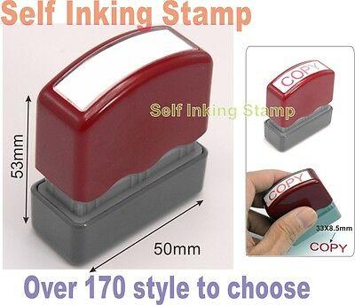Stamp convenient Self-Inking RED ink Multi-style Office