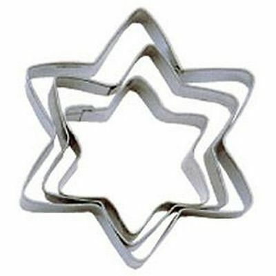 3 Tala Yellow Star Biscuit Cookie Pastry Baking Cake Decorating Cutter Cutters