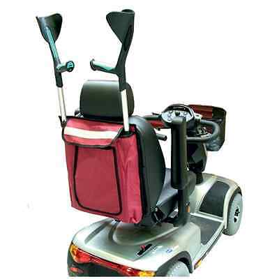 Mobility Scooter or Wheelchair Crutch / Walking Stick Back Bag