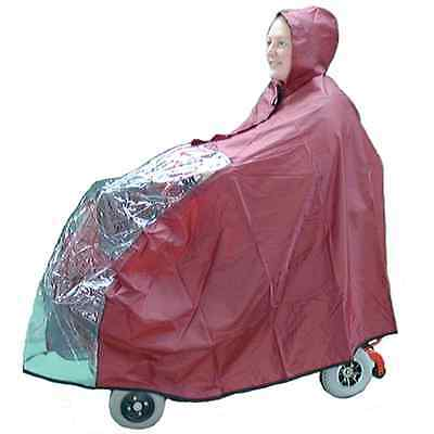 Mini Mobility Scooter Rain Cape / Cover - Full Body - Mirror Slots