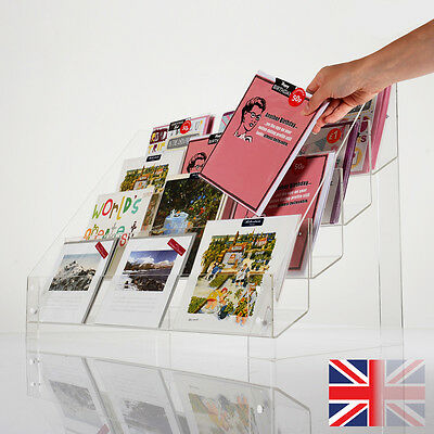 Clear Acrylic Tiered (3 or 4) Greeting Card Retail Display Stand