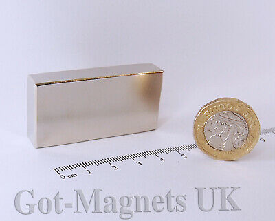 50x25x10 mm (N52)  Neodymium Magnet Large Rectangular Block Bar