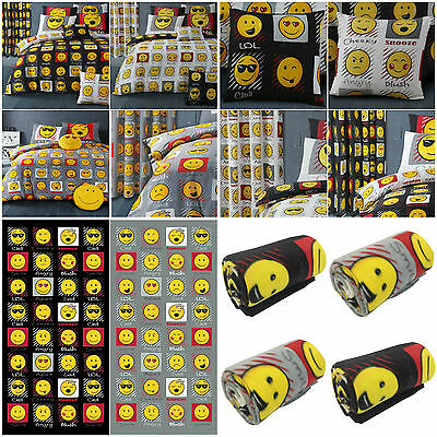 Expressions Emoji Emoticons Reversible Duvet Cover Bedding Set & Accessories
