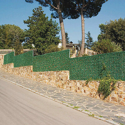 Artificial Conifer Hedge Plastic Privacy Screening Garden GOLDTIP - 1m high x 3m