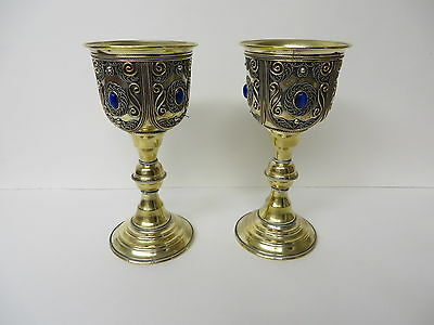 Pair of Royal Viking Goblets hand made in Georgia Beautiful Wedding gift etc