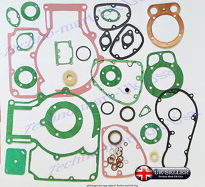 NEW ROYAL ENFIELD BULLET 500cc  COMPLETE OIL SEALS AND GASKET SET @ UK