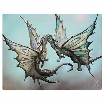 Anne Stokes Gothic Fly Away With Me Dragons 25cm x 19cm Canvas Print