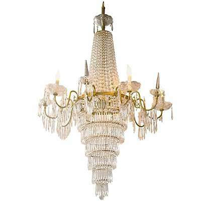 French Empire Style Crystal Chandelier 101-7483