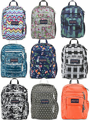 JANSPORT BIG STUDENT BACKPACK School Bag Black Blue Grey Pink Navy