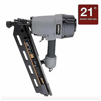 numax pneumatic framing nailer nail gun 21 degree full head strip air tool new