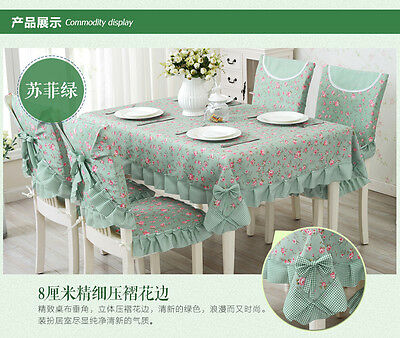 table Cloth For Wedding/Event/Party/Banquet Pastoral Dinning Coffee Linen Flower
