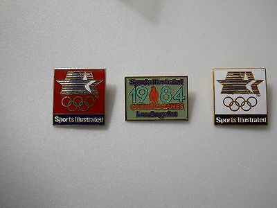 Vintage 1984 Summer Olympic Games Sports Illustrated Corporate logo 3 pin set