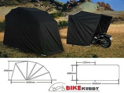 Cruiser Touring Large Motorcycle Cover Retractable Shelter Portable for Harley