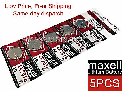 5x Maxell CR2016 2016 3V cell coin button battery for calculator Made in Japan