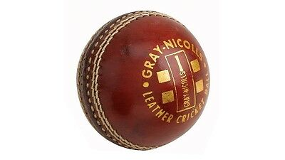 Gray Nicolls Club Red Cricket Ball Hand Stitched Leather, 156g - Large