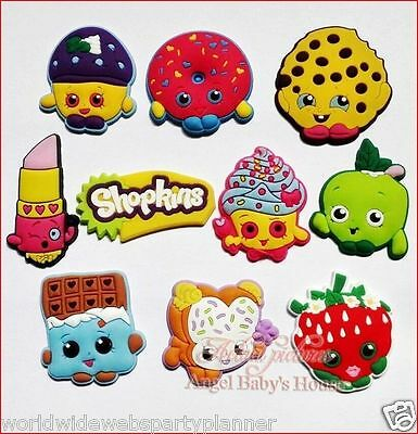 New Lot Of 8 Assorted Shopkins Shoe Charms For Crocs Birthday Party Favors