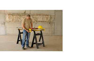 "Stanley 27"" x 5"" x 31"" Adjustable Plastic Sawhorse Jobsite Support Stand(2-Pack)"