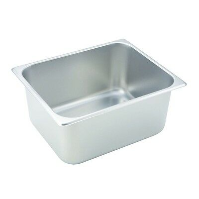 """1/2 Size Standard Weight Economy Stainless Steel Steam Table / Hotel Pan 6"""" Deep"""