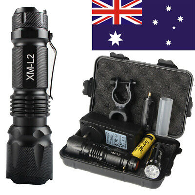 20000lm X800 Shadowhawk Rechargeable Tactical Flashlight T6 Zoom Torch 2x