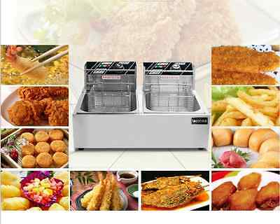 220V Electric Countertop Deep Fryer Signle, Double, Different Size