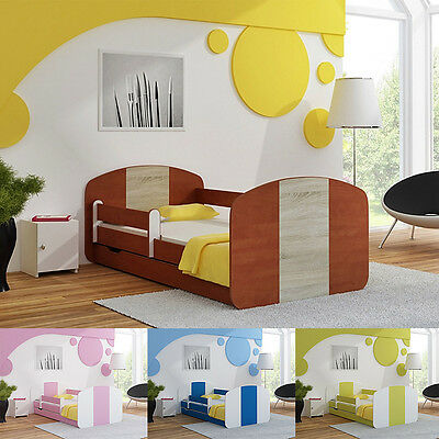 Toddler Children Kids Bed 140x70 or 160x80 for BOYS & GIRLS with Mattress Drawer