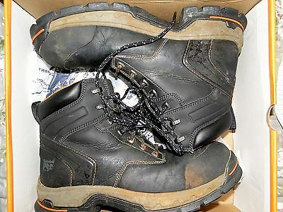 e73a40e42b7 TIMBERLAND PRO WORK Boots Stockdale Alloy Safety Toe Shoes Mens Size 12  Used *