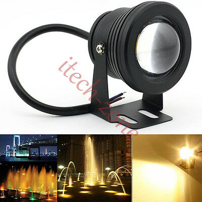 Fashion Underwater Lights Fountain Pond Outdoor 12V Spotlight 10W LED Warm White