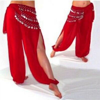 Belly Dance Pants Simple Systle Harem  Pants Loose Elastic Waist Trousers