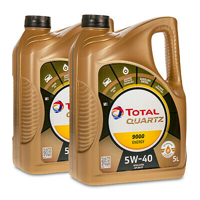 10 (2x5) Liter TOTAL QUARTZ 9000 ENERGY 5W-40 Motoröl VW 502.00/505.00