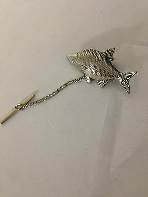 f9dc752f8605a PIKE PP-F09 TIE Pin With Chain English Pewter Handmade In Sheffield ...