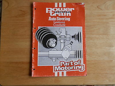 POWER TRAIN Steering catalogue 1984 cross references