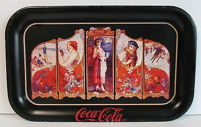 Coca Cola Coke full metal design carry drinks tray for home bar or pub collector