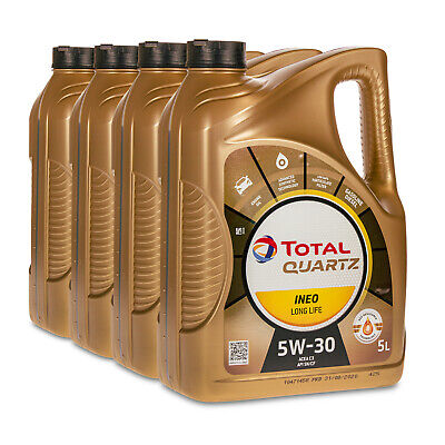 20 (4x5) Liter TOTAL QUARTZ INEO LONG LIFE 5W-30 Motoröl VW 504.00/507.00