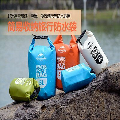 2-5L Multifunction Outdoor Waterproof Drawstring Storage Stuff Sack Dry Bag F7