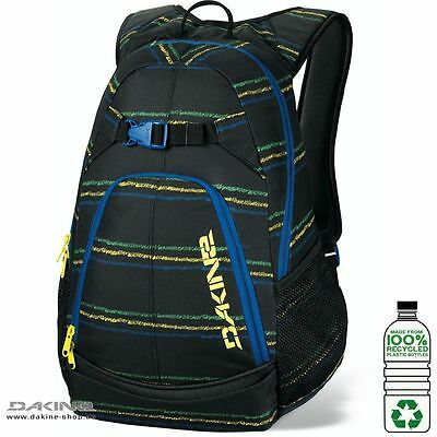 Dakine PIVOT School/Skate Travel Carry Bag/Backpack/Rucksack- Bandon Black/Blue