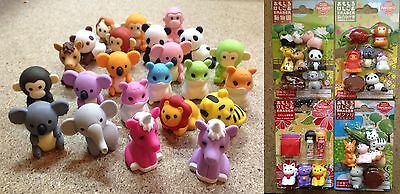 IWAKO Japanese Novelty Puzzle Eraser Rubber. Zoo, Farm, Gorilla, Lion, Animals