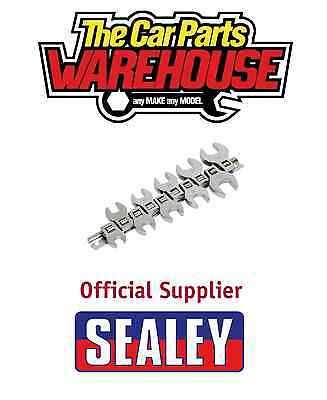 "Sealey S0866 Crows Foot Spanner Set Open End 3/8"" Metric 10 Piece Siegen Brand"