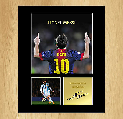 Lionel Messi Signed Mounted Photo Display Barcelona