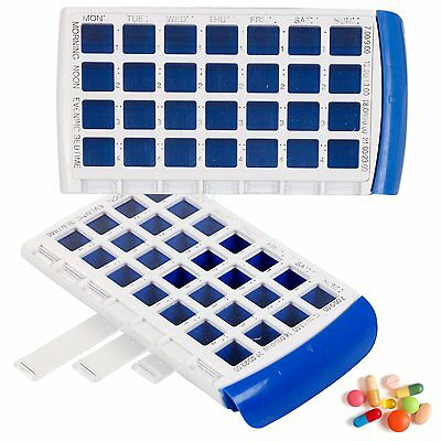7 Day Pill Box Medicine Tablet Dispenser Organiser Weekly Case Container Braille