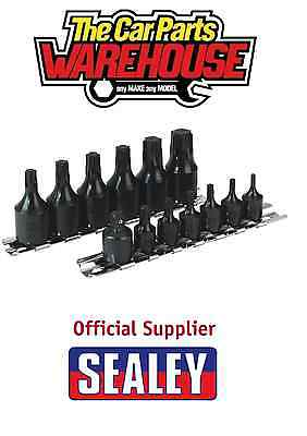 "Sealey 1/4"" & 3/8"" Drive T10-T60 Trx-Star Impact One Piece Socket Bit Set AK5584"
