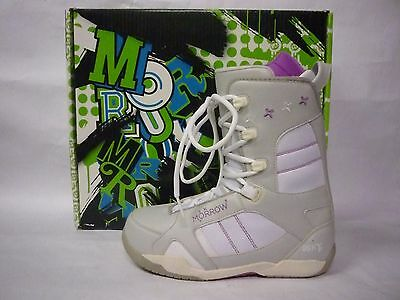 Morrow Sky Light-Grey Women's Snowboard Boots Size 8.5 - Nib