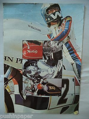 Norton Commando 850 Vintage 1974 Full Color Dealer Brochure John Player