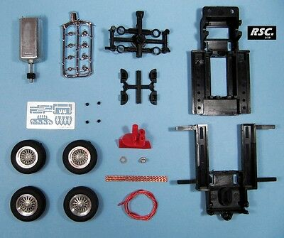 Lgk Pro 007 Mrrc Sebring Chassis + 22X7Mm Brm Spoked Wire Wheels + Motor 1:32