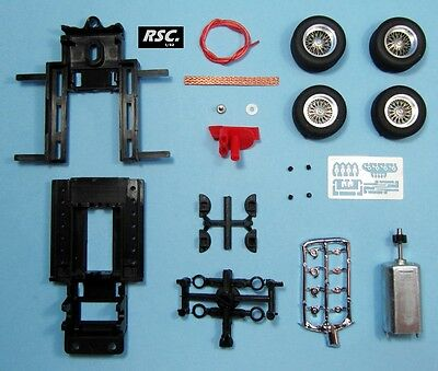 LGK PRO 008 MRRC SEBRING CHASSIS + 22X7 & 22x9 BRM SPOKED WIRE WHEELS MOTOR 1:32