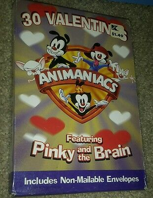 Animaniacs Valentines 30 cards featuring pinky and the brain H96