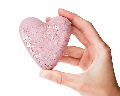 Bath Bomb Fizzy Hearts available in 7 lush scents - gift wedding party favours