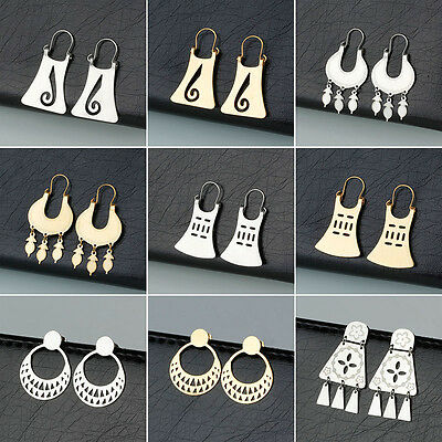 Women's Stainless Steel Fashion Silver/Gold Female Elegant Drop Dangle Earrings