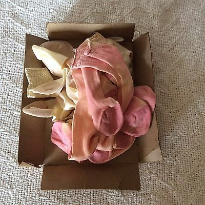 True Vintage Girls Socks New Old Stock Lot Pink Off White 50's Or 60's